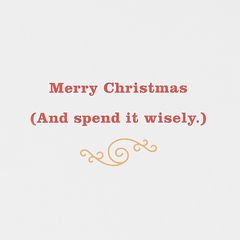 Moolah Christmas Money and Gift Card Holder Greeting Card