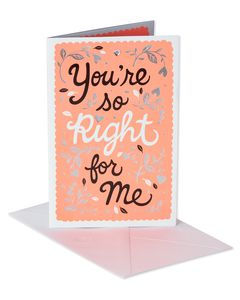Right for Me Anniversary Card