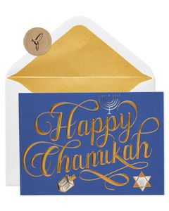 Happy Chanukah Holiday Boxed Card, 12-Count