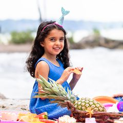 Mud Pie Mermaid Tail Party Hat Lifestyle Image
