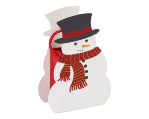 snowman christmas gift card holder