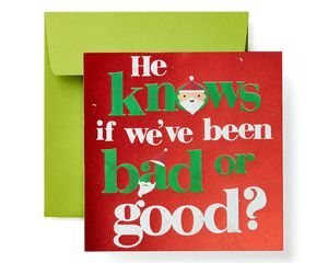 Bad or Good Christmas Greeting Card