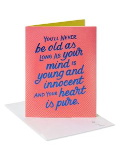 Young and Innocent Birthday Card