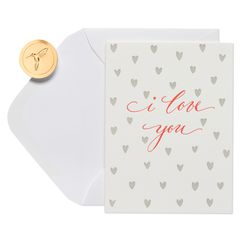 Red Hearts Romantic Greeting Card