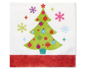 Playful Trees Christmas Lunch Napkins, 16-Count