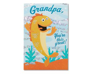 funny fish father's day card
