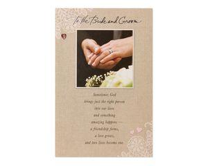 Bride and Groom Wedding Card