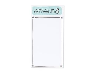 things i'll do once i marry rich notepad