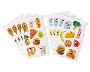 Food with Faces Stickers, 72-Count