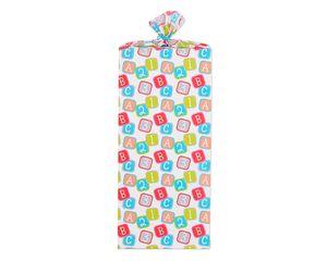 Jumbo Plastic Gift Bag Baby Blocks