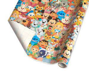 Christmas Wrapping Paper, Disney Characters, 60 Sq. Ft. Total