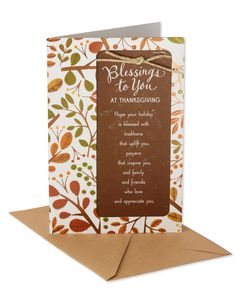 Religious Blessings Thanksgiving Card