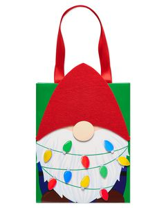 Gnome Holiday Gift Bag