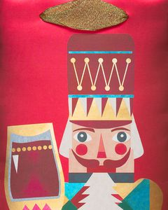 Nutcracker Beverage Gift Bag
