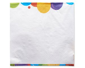 Happy Birthday Balloon Lunch Napkins, 125-Count