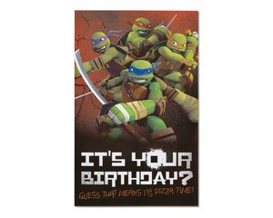 Teenage Mutant Ninja Turtles Birthday Card