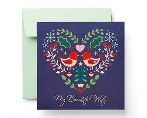 Beautiful Wife Christmas Card