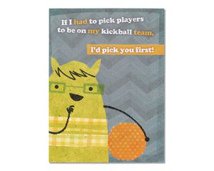 Kickball Thinking of You Card