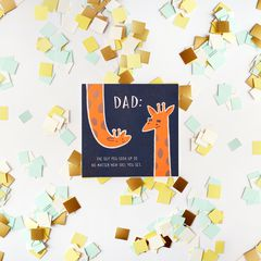 Giraffe Father's Day Card
