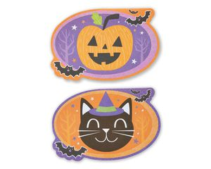 Smiles Halloween Card with Glitter, 6-Count