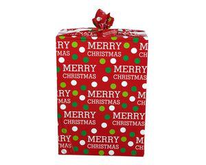 Christmas Merry Christmas Dots Jumbo Plastic Gift Bag