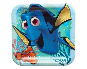 finding dory dinner square plate 8 ct