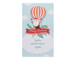 Shopping Spree Money and Gift Card Holder Christmas Card