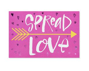 Spread Love Valentine's Day Card, 6-Count