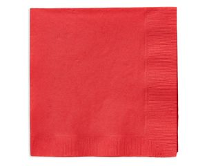 bright red lunch napkins 50 ct
