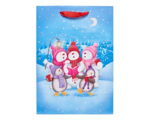 small caroling snow friends christmas gift bag