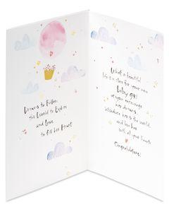 Kathy Davis Air Balloon Baby Congratulations Card
