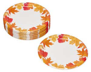 Autumn Days Paper Dinner Plates, 10-Count