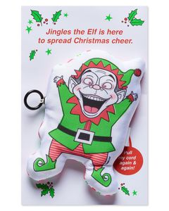 Funny Elf Christmas Greeting Card