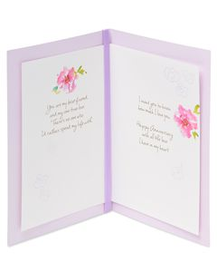 Kathy Davis Floral Anniversary Card for Wife