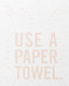 use a paper towel tea towel