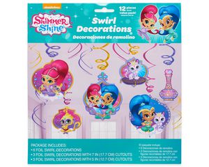 Shimmer and Shine Hanging Party Decorations