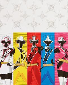 Power Rangers Ninja Steel Plastic Table Cover, 54 in. x 96 in.