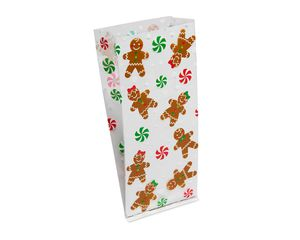Gingerbread Character Plastic Treat Bags, 20-Count