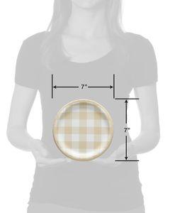 Thanksgiving Plaid Paper Dessert Plates, 36-Count