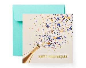 Champagne Anniversary Card