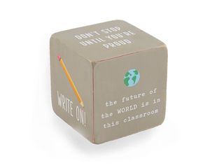 Mud Pie Gray Teacher Sentiment Block