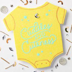 Cuddles Baby Congratulations Card