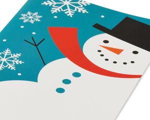 Snowman and Snowflakes Christmas Boxed Cards, 14 Count