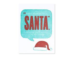 empty threats christmas card