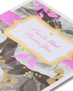 So Glad Floral Valentine's Day Card