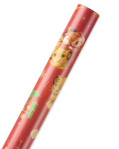Lion King Christmas Wrapping Paper, 40 Total Sq. Ft.