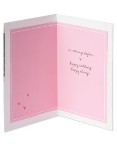 Marriage Begins Wedding Card