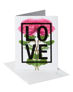 Floral Love Anniversary Card