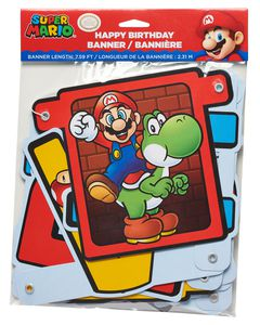 Super Mario Birthday Party Banner