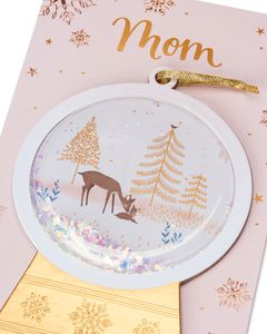Snow Globe Christmas Card for Mom